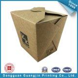 Het aangepaste Bruine Vakje van de Verpakking van het Voedsel van het Document van de Kleur (gJ-Box142)