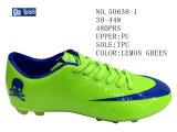 Trois couleurs PU Hommes Chaussures de Football de taille