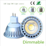 Dimmable 3W MR16 LED COB Negro Luz