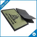 100% de los parches de Velcro bordadas con borde cubierto