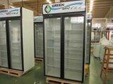 Doppelte Glastür-aufrechte Kühlvorrichtung mit Spitzenkompressor-System