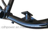 Moteurs 2.4L essence Châssis avec réservoir de gaz construit dans le cadre du vélo avec disque de frein arrière des trous de montage --couleur Noire
