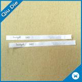 El satén lateral doble respetuoso del medio ambiente de Dmask modificó la escritura de la etiqueta de la colada para requisitos particulares de la ropa de la impresión