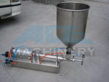 Semi-automático horizontal de la máquina de llenado de líquido en pequeña escala para el yogur y el Milk Shake