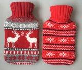 Рождественский подарок оленя дизайн Knitd горячей воды крышка расширительного бачка