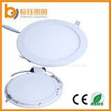 Тонкий светодиодные лампы панели 12W Круглый корпус потолочного освещения лампа