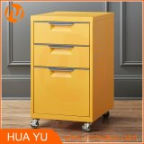 "가정 Furniture 18 "" Black에 있는 Deep 3 Drawer Steel Rolling File Cabinet"