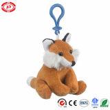 Fox 동물성 사랑스러운 장난감 견면 벨벳 Keychain를 앉아 채워진 브라운