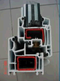 Profil de la fenêtre PVC/UPVC de tissu pour rideaux de la conque 65