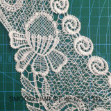 刺繍された綿のかぎ針編みのネックレスカラーレース