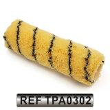Tampa do rolo de pintura acrílica da tela do poliéster com linha preta tira (TPA0302)