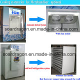 Ce/RoHS Aprovado Arrefecimento directo ensacados Gaveta de gelo com porta de Inclinação