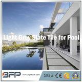 Lichtgrijze Natuurlijke Lei voor//het Tegel Zwembad die van de Vloer het hoofd bieden bedekken