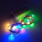 Multi-Color LED de 10 de 1m 2032 funciona con pilas de cable de cobre Mini cuento de la cadena de luz