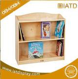 Sauter la crémaillère de livres en verre en bois de relèvement d'étalage