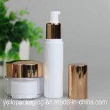 Vergoldung/silberne kosmetische Flaschen-Sahne-Flasche