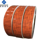 PE/Grain du bois au plafond en métal PVDF revêtement de couleur/peinture panneau carré en alliage aluminium Groove/bande