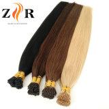 Extensão minúscula desenhada dobro do cabelo da ponta do cabelo indiano da cor escura