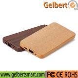 Chargeur externe en bois du Portable USB du marché en gros avec RoHS