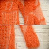 Le donne slacciano il maglione arancione modellato astratto caldo