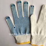Безопасности пунктирной хлопок перчатки ПВХ пунктирной перчатки