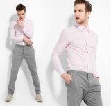 Camisa de algodón larga hecha a medida con estilo de la manga de la camisa de vestido de los hombres de la manera