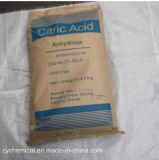 Formule : C6h8o7, mn de l'acide citrique 99.5%, utilisée comme acidifiant, comme assaisonnement, et en tant qu'agent de chélation