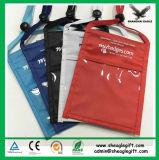 Tri-Fold бумажник шеи с отсеком 2 & ясным карманн
