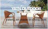 Tous les meubles en osier de rotin de présidence de meubles de patio de Weatehr dinant le jeu de café extérieur de présidence et de Tableau (YTA004&YTD002-5)