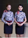 O New Blue and White Porcelain Stewardess Uniforms