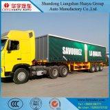 En 3 essieux de rideau remorque semi pour le transport de cargaison léger