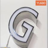 Contrassegno della lettera sollevato casella del metallo di Anteriore-Lit LED