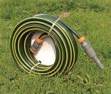a camada dobro de 15m (50 ') reforçou a mangueira da água do jardim do PVC com a linha trançada do poliéster