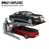 Garage 2 pile de niveau d'inclinaison du véhicule du parc automobile de relevage hydraulique