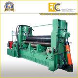 Máquina de dobra hidráulica dos rolos da placa de aço três