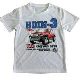Maglietta 100% del ragazzo del cotone in vestiti dei bambini con la stampa Sqt-603