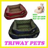Het Bed van het Huisdier van de Kat van de Hond van het Fluweel van het comfort (WY1010187A/C)