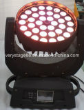 36*15W RGBWA +UV 6 en 1 Lavar Zoom LED moviendo la cabeza