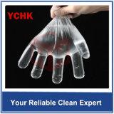 Kleiner MOQ transparenter Wegwerfplastikhandschuh-Abwasch, der Schönheit, PET Handschuhe speist