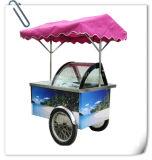 Chariots glacés mobiles crême de chariot de poussée de crême de l'Algérie/glacée