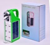 Indicatore luminoso di campeggio ricaricabile solare portatile della lanterna del LED con la radio