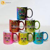도매 11oz 다채로운 전기도금을 하는 세라믹 커피 잔