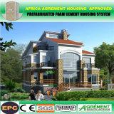 Hogares determinados del muro de cemento del kit prefabricado prefabricado vivo permanente de la casa