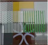 4-19mm verre trempé de couleur sérigraphie imprimés, verre décoratif