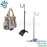 GroßhandelsEdelstahl-justierbarer Handtaschen-Ausstellungsstand/Metallbildschirmanzeige-Zahnstange