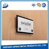OEM/Customized anodisierte stempelndes Stahltypenschild mit graviertem Laser