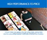 Tabella interattiva della barra di multi tocco di 21.5/32/55/65 prezzi LED Multitouch di pollice per il ristorante