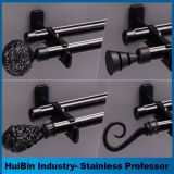Spätestes einfacher Entwurfs-Doppeltes u. einzelner schwarzer haltbarer Aluminiumlegierung-Vorhang Rod