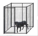 perrera de acero grande revestida negra al aire libre del perro del acoplamiento soldado de los 6ftx10FT