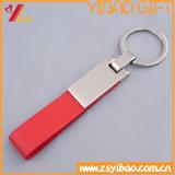 カスタマイズされた昇進の安い革Keychain (YB-LK-03)
